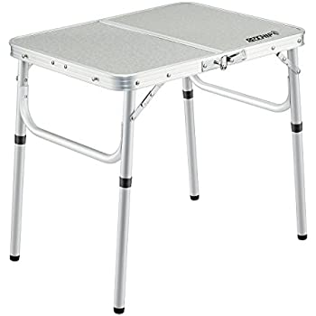 55988b94c1d Amazon.com  REDCAMP Small Folding Table Adjustable Height 23.6