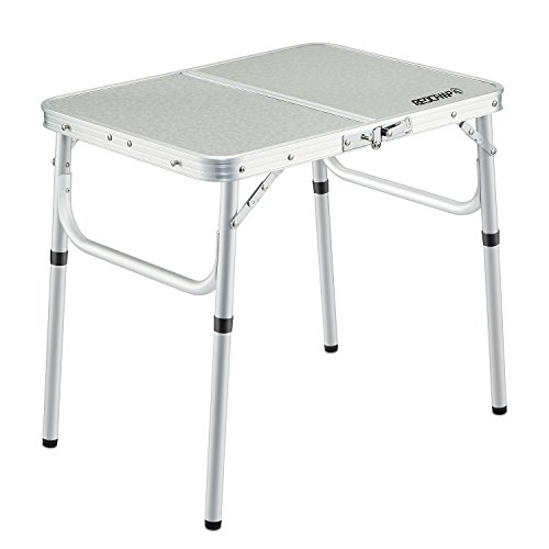 REDCAMP Small Folding Table Adjustable Height 23.6