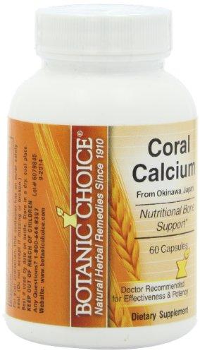 Botanic Choice Coral Capsules de calcium, 60 comte