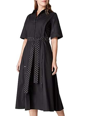 İpekyol Kadın Yirtmaçlari Düğme Şeritli Gömlek Elbise, Siyah, 34 Beden