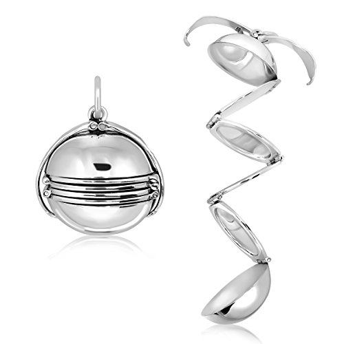 WithLoveSilver Sterling Silver 925 Photo Ball for Six Pictures Pendant - Photo Ball Locket