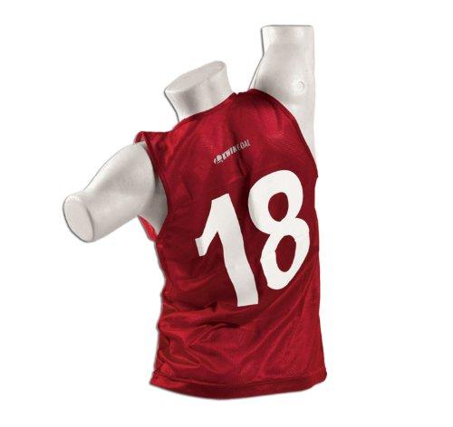 (Kwik Goal Adult 1-50 Numbered Vests, Red)