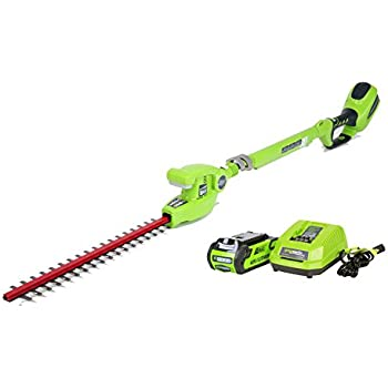 Greenworks 20-Inch 40V Cordless Pole Hedge Trimmer, 2.0 AH Battery Included 22272