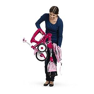 Radio Flyer EZ Fold Stroll 'N Trike Ride On, Pink