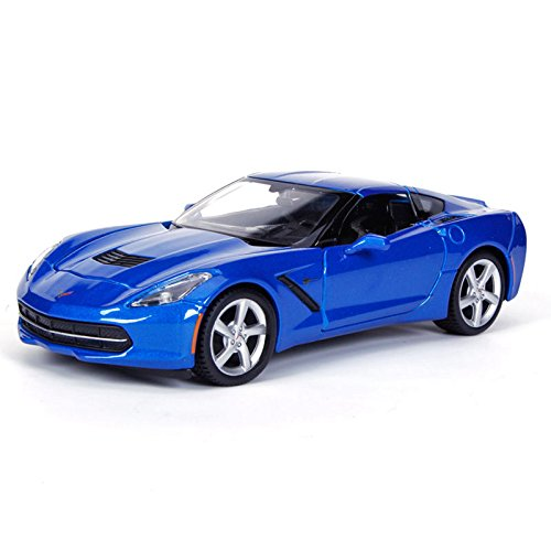 Maisto New 1:24 Display Special Edition Collection - Blue 2014 Chevrolet Corvette C7 Stingray Diecast Model Car (Without Retail Box)