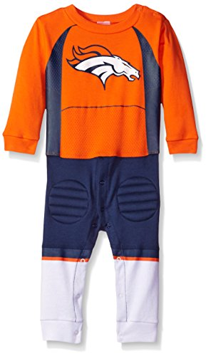 Gerber Childrenswear NFL Denver Broncos Boys Footless Footysuit, 12 Months, (Denver Broncos Nfl Uniform)