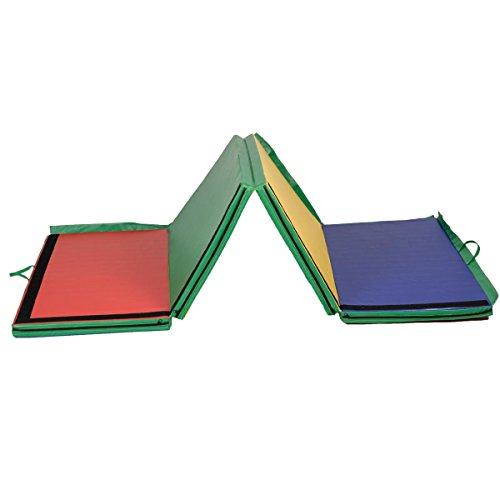 Giantex 4 X10 X2 Gymnastics Mat Folding Panel Thick Gym
