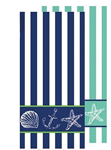 Nautical Themed Deluxe Terry Velour Beach / Bath Towel 30