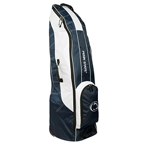 Team Golf NCAA Penn State Nittany Lions Travel Golf Bag, High-Impact Plastic Wheelbase, Smooth & Quite Transport, Includes Built-in Shoe Bag, Internal Padding, & ID Card Holder ()