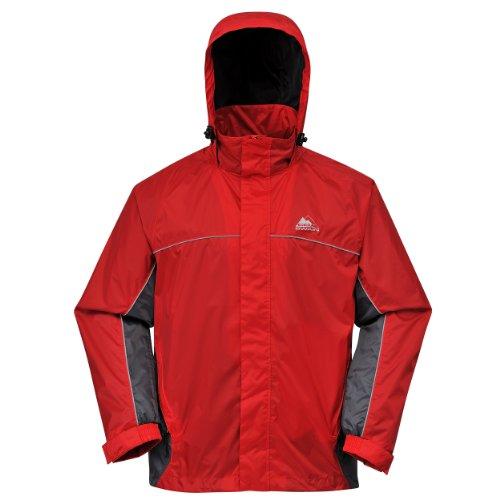 Cox Swain Funktions -/ Regenjacke Helki - 8.000mm Wassersäule / 5.000mm Atmungsaktivität, Farbe: Red/Grey, Größe: L