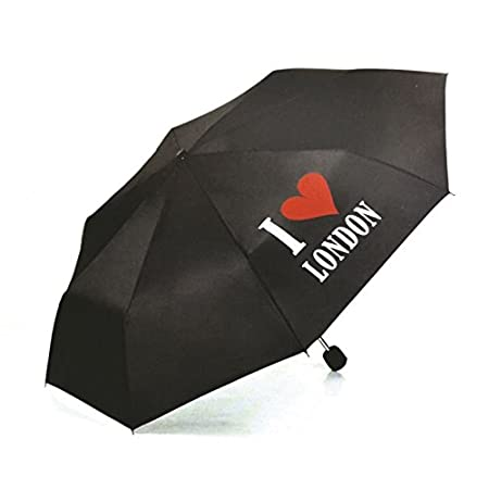Black I LOVE LONDON Print Mini Portable Folding Umbnrella Men Women Unisex For Hand Bags Super Compact SOUVENIER 417t1WiFI5L