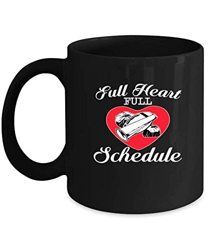 - Football Cheerleading Funny Coffee Mug - Football Heart Cute Gift Ideas