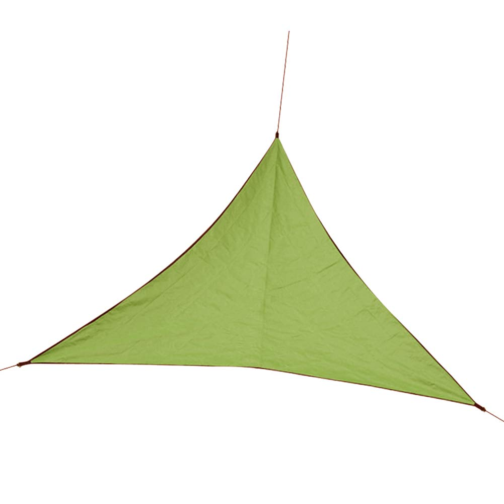 Awning Waterproof Sunshade Picnic Triangle Garden Travel Beach Camp Shelter Outdoor with Hanging Ring Park Canopy(Army Green)