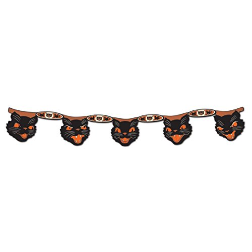 Beistle Jointed Cat Streamer, 7-Inch by 4-Feet -