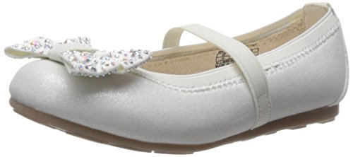 Stuart Weitzman Fannie Jewel Strap Bow Ballet Flat (Little Kid/Big Kid), White, 12 M US Little (Stuart Weitzman Bow)