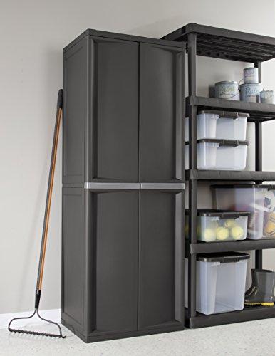 STERILITE 01423V01 4 Shelf Cabinet, Flat Gray Cabinet, 1-Pack