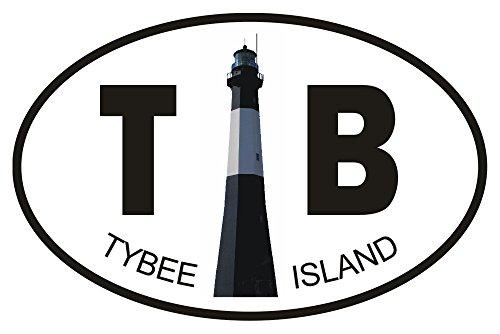 Tybee Island Lighthouse Oval, Tybee Island, Georgia Magnet 2 x 3 Fridge Photo Magnet