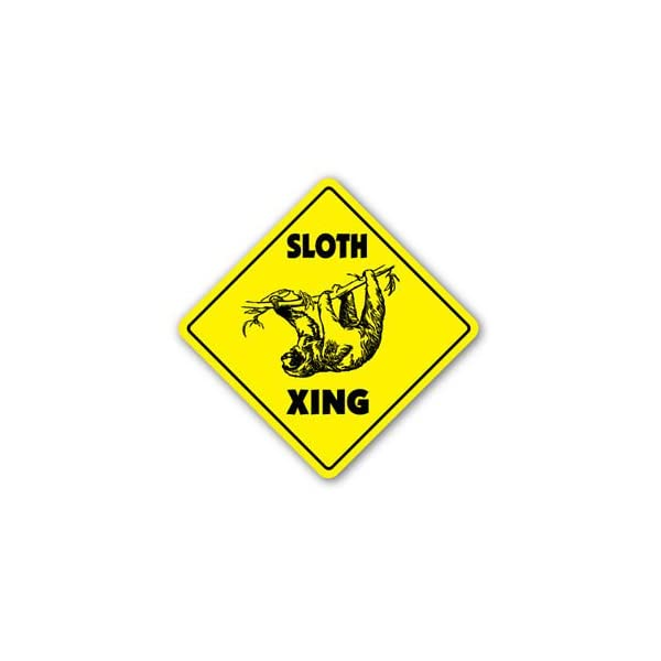 Vinyl Usa Sloth Crossing Sticker Xing Gift Novelty Animal Lover Slow Slo Poke -