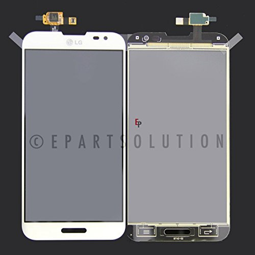 ePartSolution_OEM LG Optimus G Pro E980 E985 F240 L-04E LCD Display Touch Screen Digitizer Lens Glass Replacement part USA Seller (White) - Oem Lcd Screen Lens