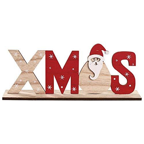 Da.Wa Colgante de Puerta Feliz Navidad Troquelado en Madera ...