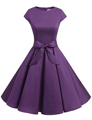50s purple dress - 1