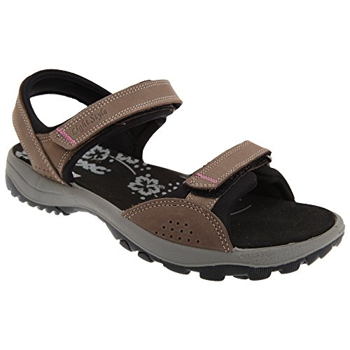 2x Touch Fastening Sports Sandal - Brown 7GGgIlRqG