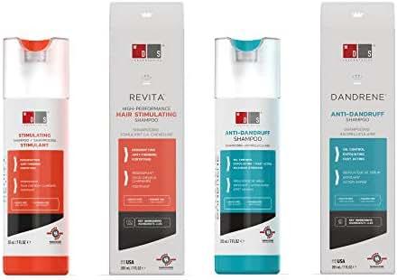 Revita Caffeine Biotin Hair Growth Shampoo Sulfate Free DHT Blocking Formula & Anti-Dandruff Dry Scalp Exfoliating Dandrene Shampoo