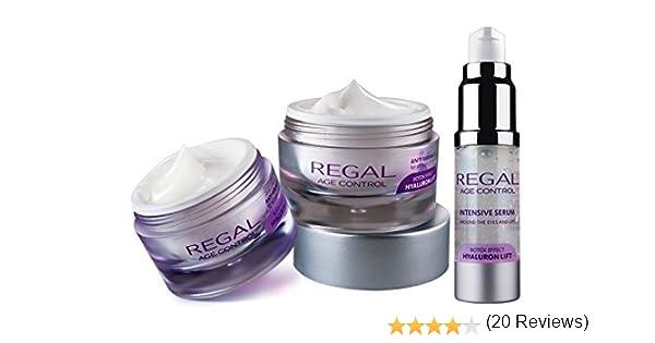 Regal Age Control - Pack de 3 cremas con efecto antiarrugas y lifting - Crema de día, Crema de Noche y Serum Contorno de Ojos y Labios: Amazon.es: Belleza