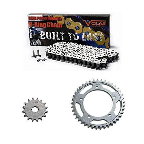 Daytona O-ring Chain - 2003-2004 Triumph Daytona 600 O-Ring Chain and Sprocket Kit - White