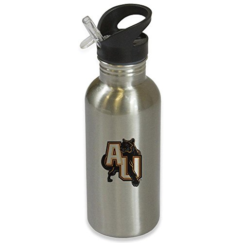 Adelphi University Panthers Silver Stainless Steel Water Bottle Logo Version 2