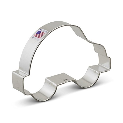 Ann Clark Small Car Cookie Cutter - 4.75 Inches - Tin Plated Steel