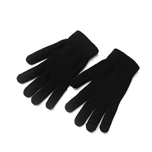 Mellons Unisex Winter Knit Classic Solid Color Gloves (Gloves Knit Women)