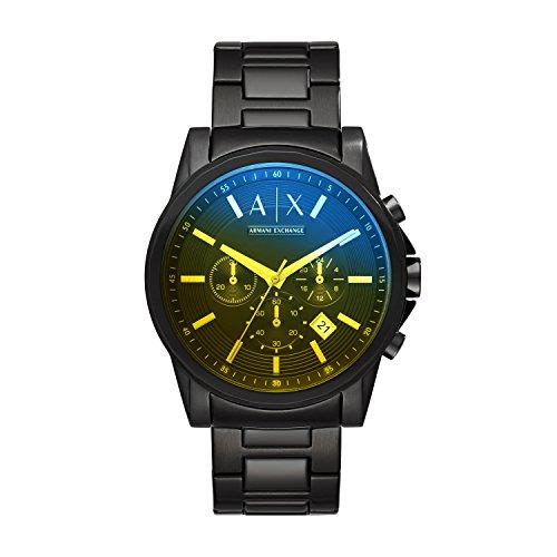 Armani Exchange Men's  Black Stainless Steel Watch AX2513 (Armani Exchange Black Steel Watch)