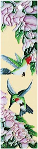 Natural Hummingbird_Left - Decorative Ceramic Art Tile - House Number - 2