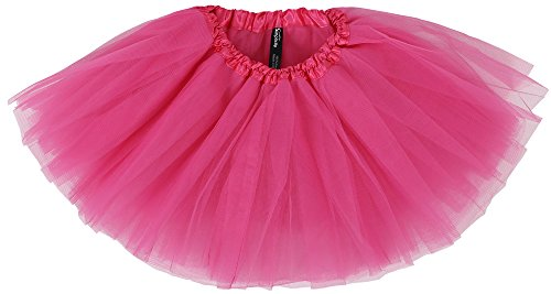Simplicity Little Girl Dressup Fairy Costume Princess Tutu w/Elastic Waist,Rose