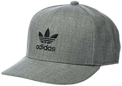 (adidas Men's Originals Trefoil AW Snapback Cap, Heather Grey/Black, One Size)