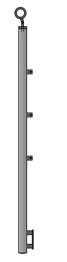 Gel/änder f/ür seitliche Montage an Treppen Balkone und Terrassen mit waagerechten Streben 180 cm mit 2 Pfosten und 6 Querstreben 30mm