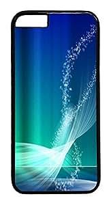 ACESR Aqua Blue iPhone 6 Hard Case PC - Black, Back Cover Case for Apple iPhone 6(4.7 inch)