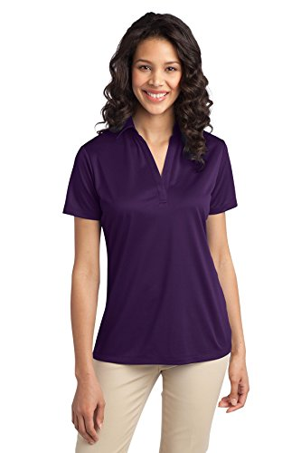 Port Authority Women's Silk Touch Performance Polo XL Bright Purple