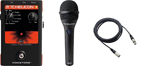 TC Helicon VoiceTone R1 and TC MP75 Mic and Cable Bundle by TC Helicon-TC Electronic