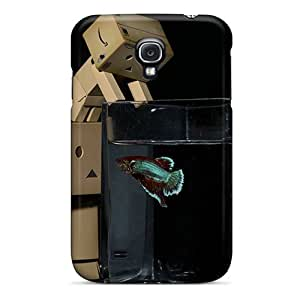 Protective Tpu Case With Fashion Design For Galaxy S4 (danbo And Fishy)
