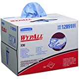 Wypall X90 Extended Use Wipers (12891), Reusable Wipes BRAG BOX, Blue Denim, 1 Box / Case, 136 Sheets / Box