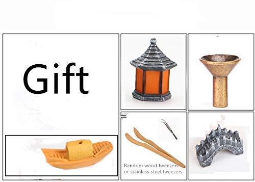 semli Incense Burner Backflow Incense Burner Holder Incense Stick Holder Home Office Decor by semli (Image #4)