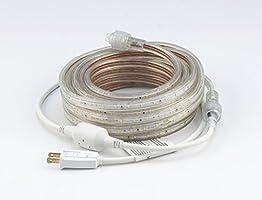 UL Listed,164 Feet,Pure White 6000K,Super Bright 45000 Lumen 120V Flat LED Strip