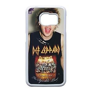Samsung Galaxy S6 Edge case (TPU) ,Samsung Galaxy S6 Edge Cell phone case White def leppard tonight - HHKL4439676