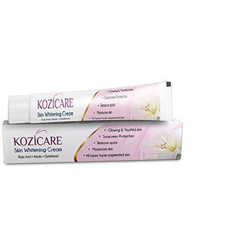 Kozicare Kojic Acid, Arbutin, Glutathione Skin Whitening & Lightening Cream,15g (Pack of 4)