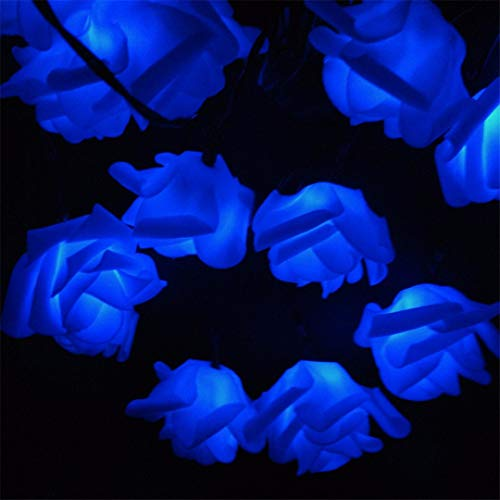 BGFHDSD Solar LED Wedding Party Rose String Lights 4.8M-12M Warm White Blue Multicolor Options Creative Design for Holiday Decor. Warm White 10m 60roses by BGFHDSD (Image #6)
