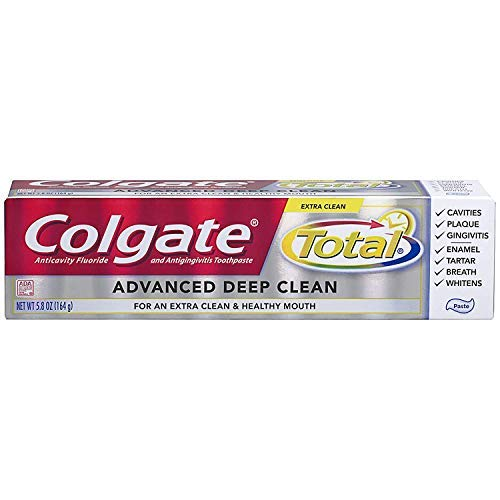 Colgate Total Advanced Fluoride Deep Clean Toothpaste, 5.8 oz (Pack of 4)