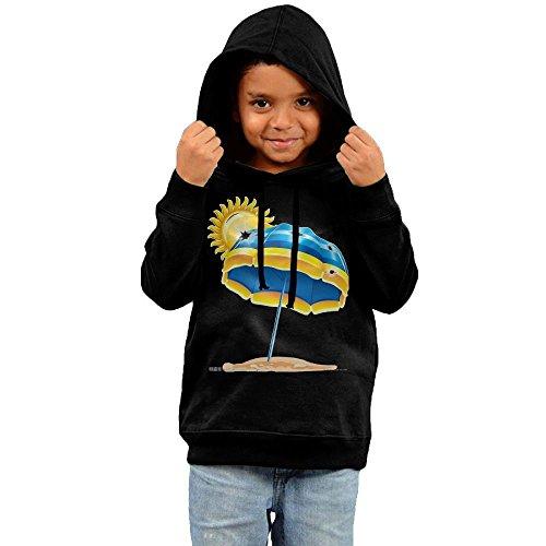 ZheuO Boys & Girls Baby Sun Protection Classic Hoodie Hooded Sweatshirt 5-6 Toddler Black