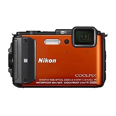 Nikon Coolpix AW130 16.0-Megapixel Waterproof Digital Camera Orange